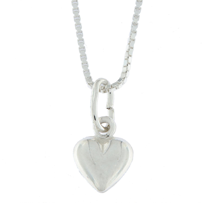 Anheng sølv hjerte glatt 8mm