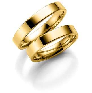 Forl.-/giftering gull 4mm rett utvendig/ buet innvendig