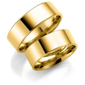 Forl.-/giftering gull 7mm rett utvendig/ buet innvendig