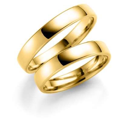 Forl.-/giftering gull 4mm lett buet utvendig/ buet innvendig