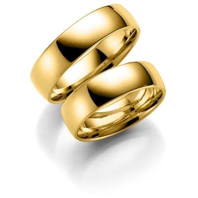 Forl.-/giftering gull 6mm rett utvendig/ buet innvendig