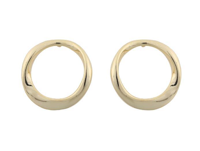 """Ørepynt """"gull"""" åpen lett vridd ring"""