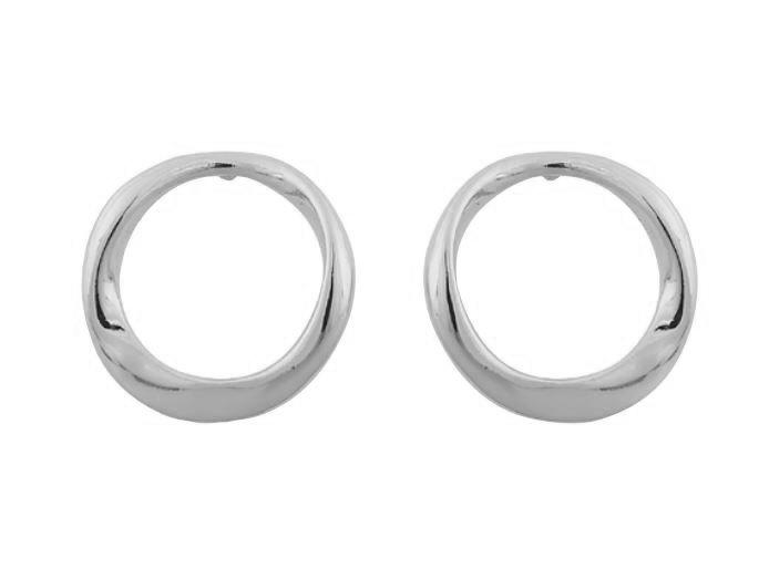 """Ørepynt """"sølv"""" åpen lett vridd ring"""