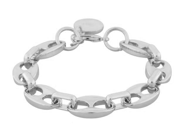"""Armlenke """"sølv """" store ovale ledd / firk. ledd 17+3cm"""