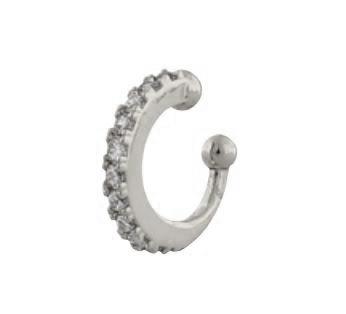 """Ear cuff """"sølv"""" mini med blanke stener"""
