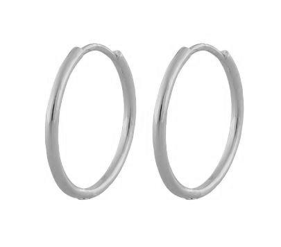 """Ørering """"sølv"""" 24mm diameter rund profil hengslet"""