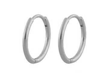 """Ørering """"sølv"""" 18mm diameter rund profil hengslet"""