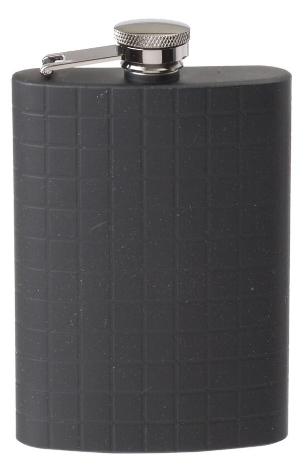 Lommelerke stål/sort m/rutemønster