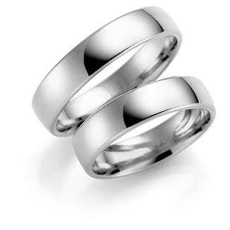 Forl.-/giftering sølv 5mm lett buet utvendig/ buet innvendig
