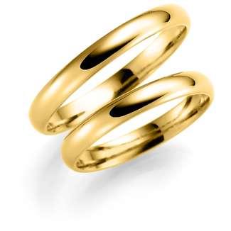 Forl.-/giftering gull 3mm buet utvendig/ buet innvendig