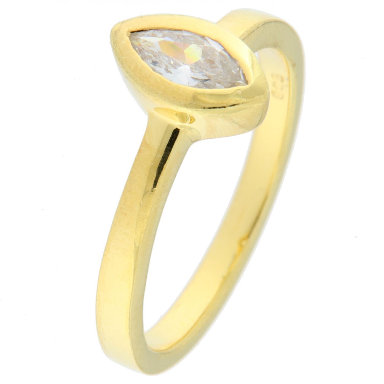 Ring forg.sølv m/zircon i navetteform