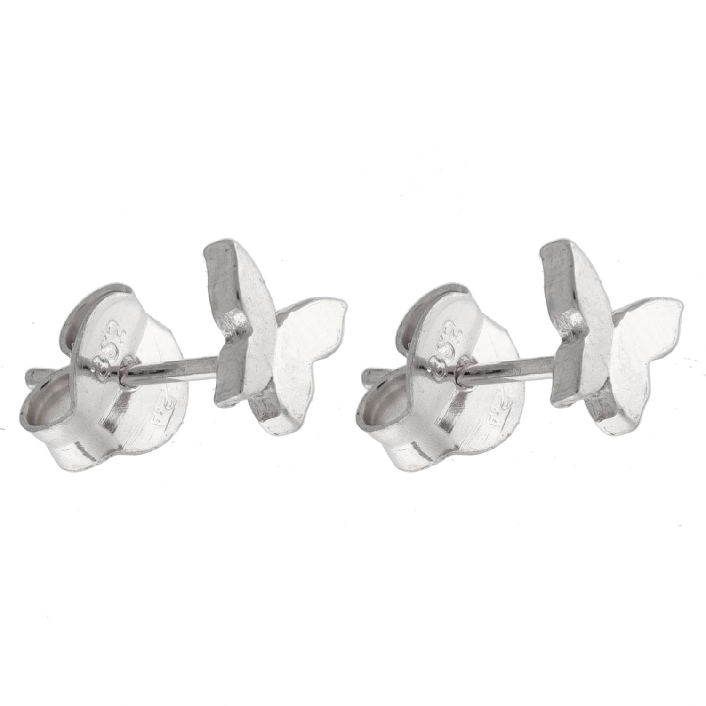 Ørepynt rh.sølv sommerfugl