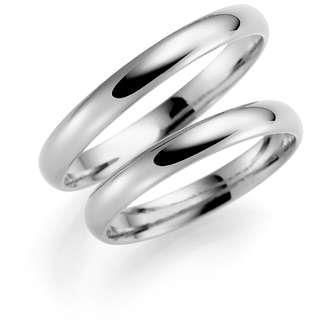 Forl.-/giftering sølv 3mm buet utvendig/ buet innvendig
