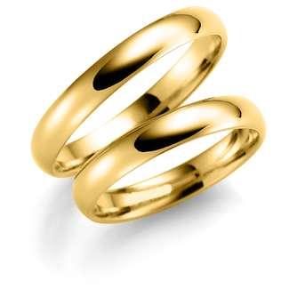 Forl.-/giftering gull 4mm buet utvendig/ buet innvendig 1,4mm