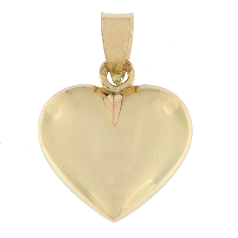 Anheng gull hjerte medium nesten massivt