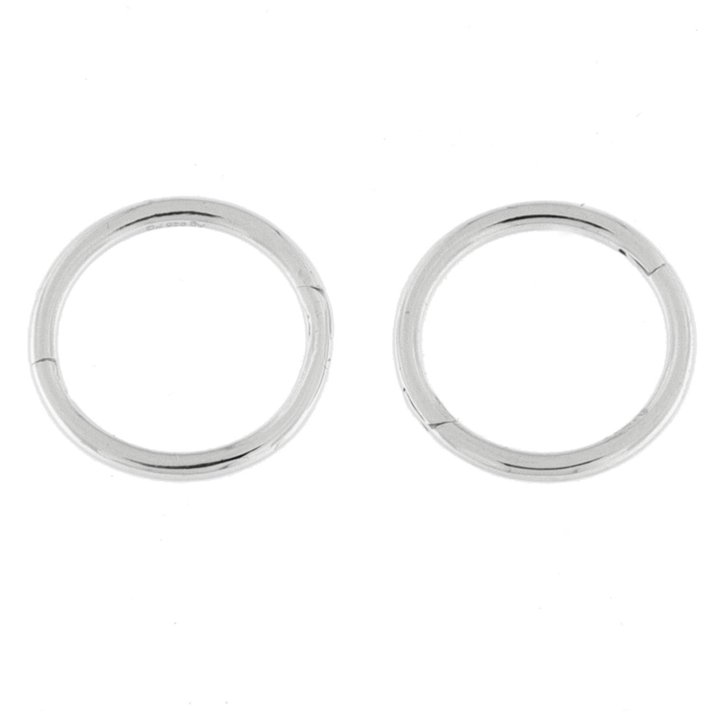 Ørering rh.sølv glatt 12ø rundt rør m/innebygd hengsle
