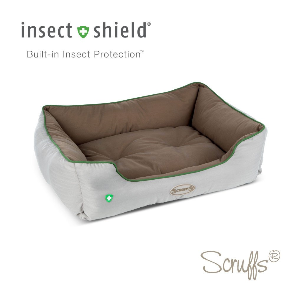 "Scruffs ""Insect Shield"" Box Bed, 75 x 60cm, Taupe"