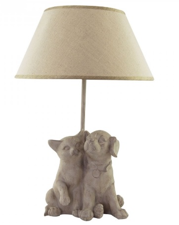 Lampe hund og katt HAPPY HOUSE