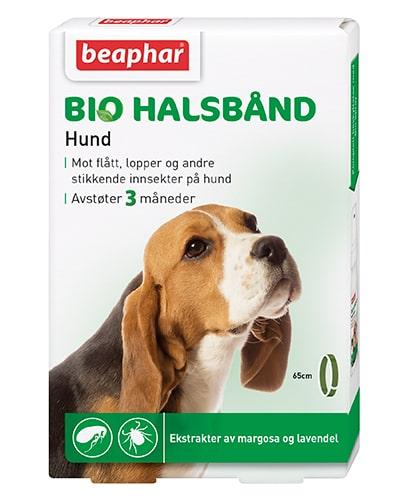 BIO HALSBÅND HUND, BESKYTTER MOT FLÅTT, LOPPER OG INSEKTER