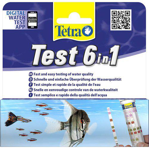 TETRA TESTSET 6IN1 25ST GH/KH/NO2/NO3/PH/Cl2