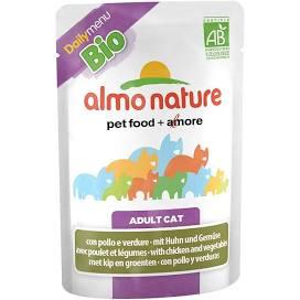 !!Utgått. Chicken and Vegetables 70gr, Bio Organic Cat Almo Nature (30)