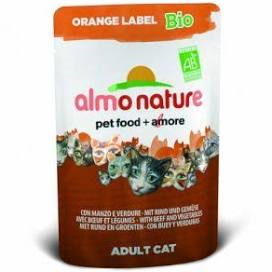 !!Utgått. Kalv og grønnsaker 70gr, Bio Organic Cat Almo Nature