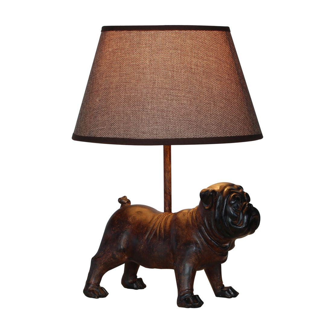 HH Lampe Bulldog Liten m/skjerm, Brun