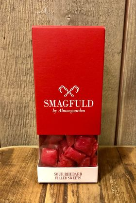 Smagfuld fylte drops Sour Rhubarb filled sweets