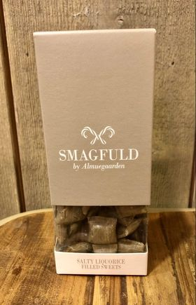 Smagfuld fylte drops Salty liquorice filled sweets