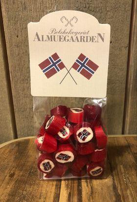 Håndlagde drops Norges flagg