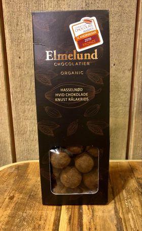 Økologisk sjokolade hvit hasselnøtt m. knust rålakris