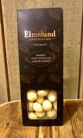 Økologisk sjokolade hvit mandel m. sitron og kokos