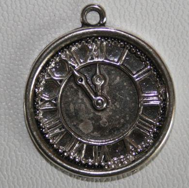 Klokke sølv romer