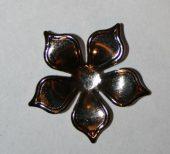 blomst sølv uten hull