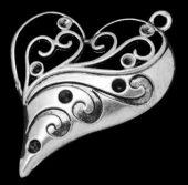 Hjerte Filigree Sølv2