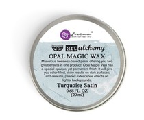 Finnabair Art Alchemy Opal Magic Wax Turquoise Satin