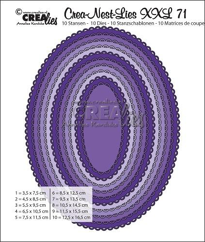 Oval Åpen scallop CLNestXXL71