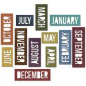 Block Calendar Words