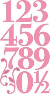 Tall Collectable Elegant numbers COL1418