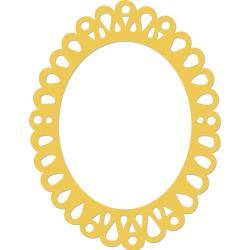 "Oval Ornate Frame 4""X3.25"""