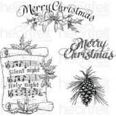 "Heartfelt Creations Cling Rubber Stamp Set 5""X6.5"""
