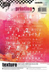 Texture Plate Calendar