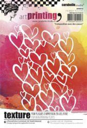 Rubber Texture Plate Composition avec des cœurs