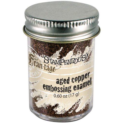 Aged copper embossing enamel