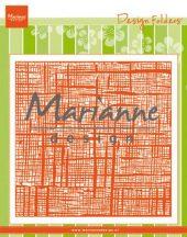 Marianne D Embossing folder Linnen