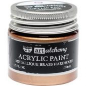 Finnabair Art Alchemy Acrylic Paint ,Metallique Brass Hardware