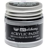 Finnabair Art Alchemy Acrylic Paint Metallique Silver Spoon