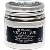 Finnabair Art Alchemy Acrylic Paint Metallique White Pearl