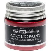 Finnabair Art Alchemy Acrylic Paint Metallique Royal Red