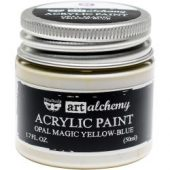 Finnabair Art Alchemy Opal Magic Acrylic Paint Opal Magic Yellow/Blue